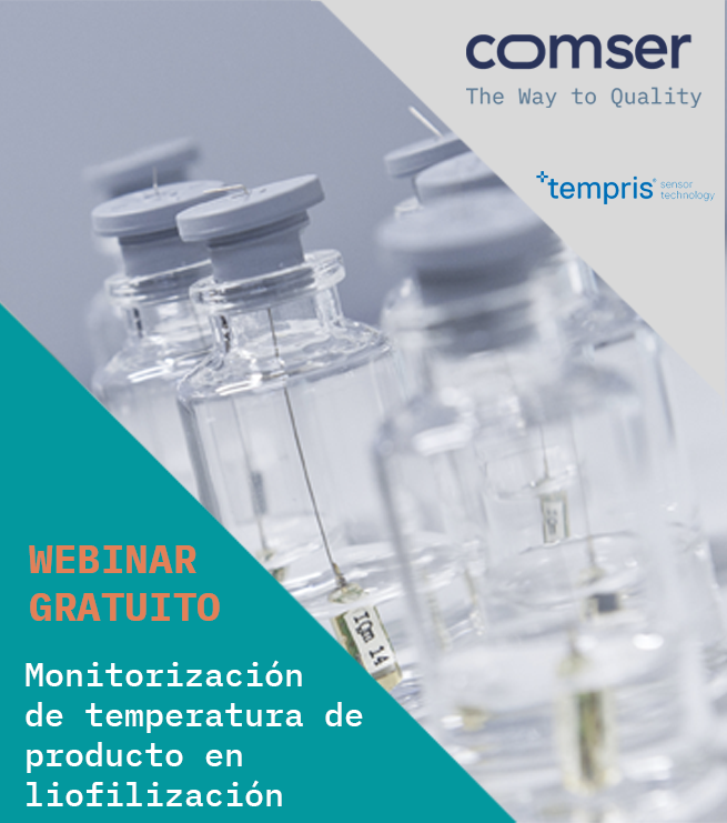 monitorización de la temperatura en liofilización